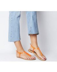 Office Samba Toe Post Sandals - Red