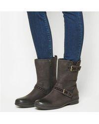 69e2a2c034e UGG Jenise Black Leather Rain Boots - Lyst