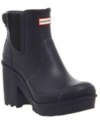 hunter heel and high heel boots for women  lyst