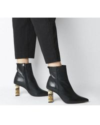 Office Attention- High Feature Heel Boot - Black