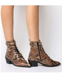 Office - Ambassador- Lace Up Boot - Lyst