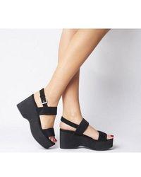 Office O-magnify- Flatform Sandal - Black