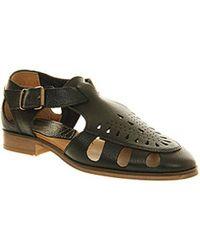 Hudson Jeans London Sherbert Sandal - Black