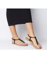 Office Samba Toe Post Sandals - Black