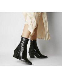 Office Arabella High Cut Western Boots - Black