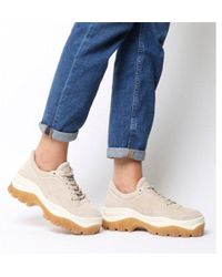 Bronx - Taupe Suede Chunky Trainers With Gum Sole - Lyst