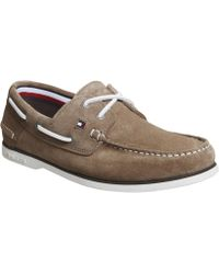 Tommy Hilfiger Classic Boat Shoes - Brown