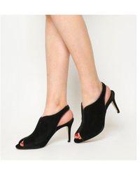 Office - Quiz Peeptoe Shoe Boots - Lyst