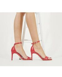 Office Mimosa Two Part Mid Sandal - Red