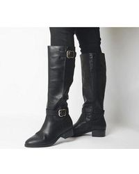 Office Kane- Buckle Detail Riding Boot - Black