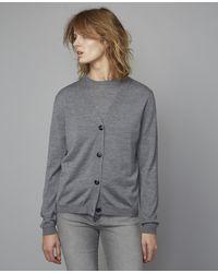 Officine Generale Leana Cardigan | Italian Wool Xs Grey