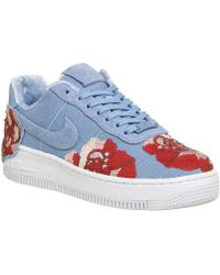 2b840b18f9f Lyst - Nike Women s Af1 Upstep Prm Lx Basketball Shoe in White