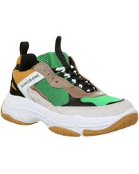 Calvin Klein - Mens Green / Yellow Marvin Chunky Trainers - Lyst
