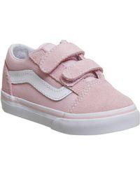 4a5b2b3acfad5a Lyst - Vans Old Skool Suede Women s in Pink