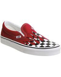 Lyst - Vans Unisex Classic Slip-on Pebble Snake Sneakers Chilipepper ... a4c523536