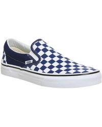b986132d2a Lyst - Vans Classic Patent Leather Slip-On Women S Sneaker in Blue