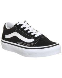 3202800ffc Lyst - Vans Canvas Gum Old Skool In Black in Black for Men
