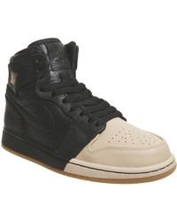 7d468f2a0 Lyst - Nike Son Of Force Black   White Ankle-high Leather Fashion ...