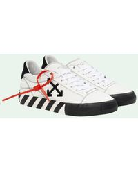 Off-White c/o Virgil Abloh Vulcanized Low Leather Trainers - White