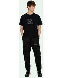 Off-White c/o Virgil Abloh T-shirt Met Patroon - Zwart
