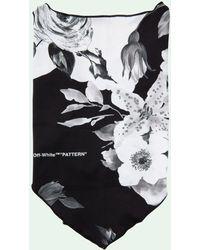 Off-White c/o Virgil Abloh Mondkapje Met Bloemenprint - Zwart