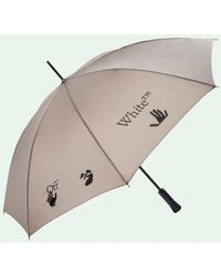 Off-White c/o Virgil Abloh Parapluie à logo imprimé - Gris