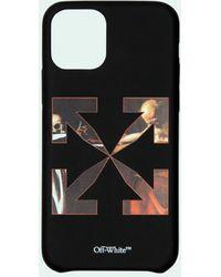 Off-White c/o Virgil Abloh CARAV IPHONE 11 PRO MAX COVER BLACK RED - Negro