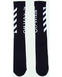 Off-White c/o Virgil Abloh Diag Socks - Black