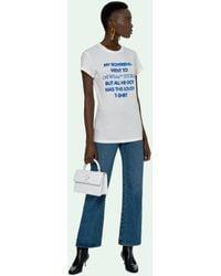 Off-White c/o Virgil Abloh Camiseta con eslogan estampado - Blanco