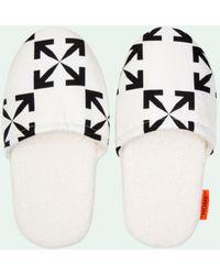 Off-White c/o Virgil Abloh Arrow Pattern Slippers - White