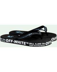 Off-White c/o Virgil Abloh Tongs à logo imprimé - Noir