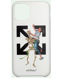 Off-White c/o Virgil Abloh Iphone 11 Pro Max Hoesje Met Skeletprint - Wit