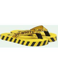 Off-White c/o Virgil Abloh Industrial Logo Flip Flops - Geel