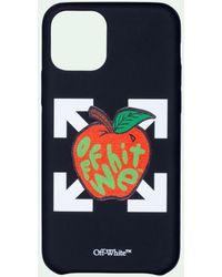 Off-White c/o Virgil Abloh Funda para iPhone 12 Pro con logo - Negro
