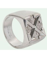 Off-White c/o Virgil Abloh Zilveren Zegelring - Metallic