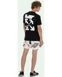 Off-White c/o Virgil Abloh - Cut Here Tシャツ - Lyst