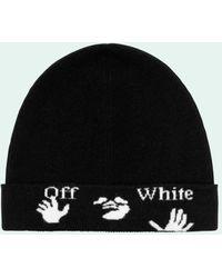 Off-White c/o Virgil Abloh ロゴ ビーニー - ブラック