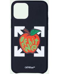 Off-White c/o Virgil Abloh Funda para iPhone 11 Pro con manzana - Negro