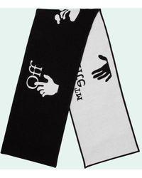 Off-White c/o Virgil Abloh インターシャ ロゴ スカーフ - ブラック