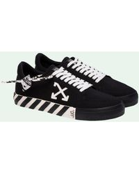 Off-White c/o Virgil Abloh Vulcan Low Leather Trainers - Black