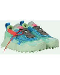 Off-White c/o Virgil Abloh Odsy-1000 Leather Trainers - Green
