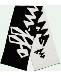 Off-White c/o Virgil Abloh Écharpe en maille intarsia - Noir