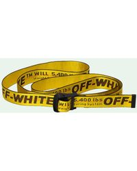 Off-White c/o Virgil Abloh Riem Met Logo - Geel