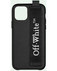 Off-White c/o Virgil Abloh Cover per iPhone 11 Pro Industrial con stampa - Nero