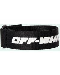 Off-White c/o Virgil Abloh Bracelet à logo - Noir