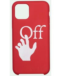 Off-White c/o Virgil Abloh Funda para iPhone 11 Pro Max con logo - Rojo