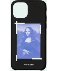 Off-White c/o Virgil Abloh Coque d'iPhone Pro Max Mona Lisa - Noir