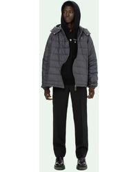 Off-White c/o Virgil Abloh Twist Puffer Jacket - Grey
