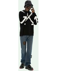 Off-White c/o Virgil Abloh Twisted Arrows セーター - ブラック