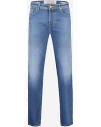 Jacob Cohen Slim-fit J688 Jeans In Stretch-katoen - Blauw